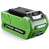 Powerextra 40V 6000mAh Replacement Lithium Battery for GreenWorks 29462 Battery GreenWorks 40V G-MAX Power Tools 29252…