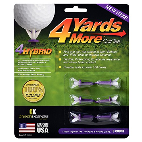 Greenkeepers 4 Hybrid Golf Tee (Tees Accessory Golf)