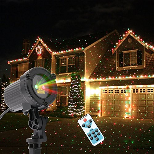ALien Red Green Static Star Laser Christmas Lights Outdoor Waterproof Garden Landscape Lights With Remote
