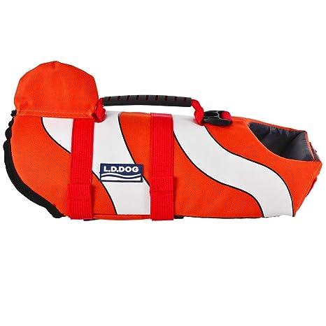 SILD Chaleco Salvavidas para Perro Chaleco de Seguridad Ajustable Salvavidas Chaleco Flotador para Mascota arnés de