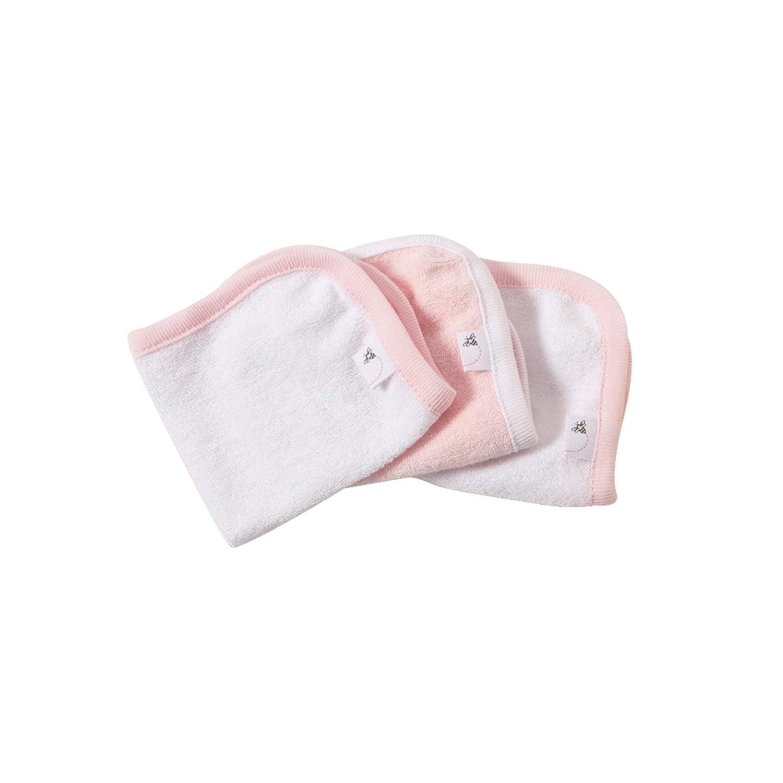 Burt's Bees Baby - Set of 3 Washcloths, 100% Organic Cotton (Heather Grey) Burt' s Bees Baby LY10817-HTG-OS