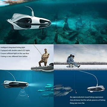 DUCKTOYS Drone Submarino ROV con 4K UHD-buscador de Peces Marina ...