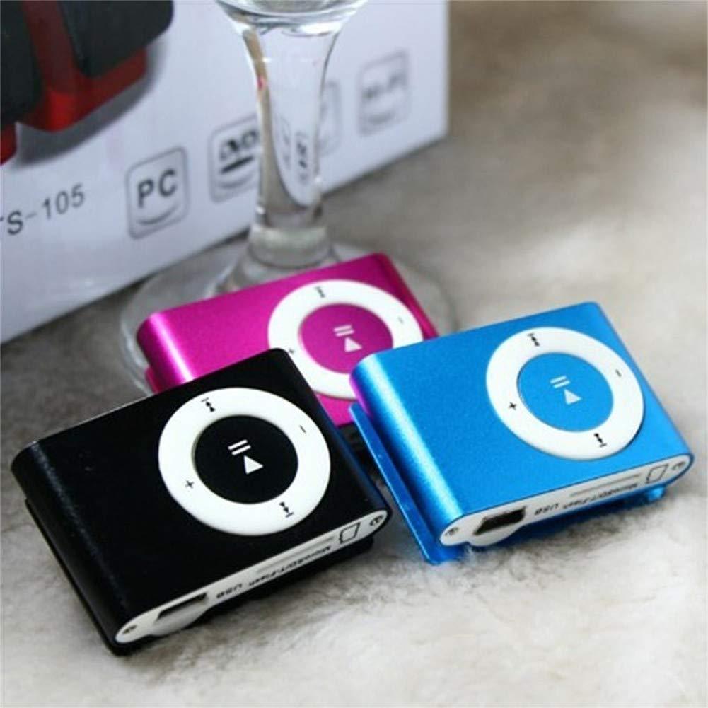 Senza Display Gutyan Mini Player Lettore Mp3 Clip USB Supporta 3,5 Mm USB 2.0 Mini Lettore Mp3 con Supporto Clip Micro SD Tf Card Facile