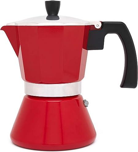 Cafetera espresso 6 tazas TIVOLI-roja (Induccion): Amazon.es: Hogar