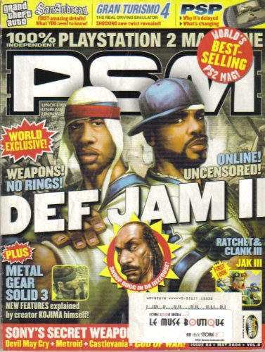 PSM MAGAZINE (May 2004 - Issue 84) Featuring: DEF JAM VENDETTA 2