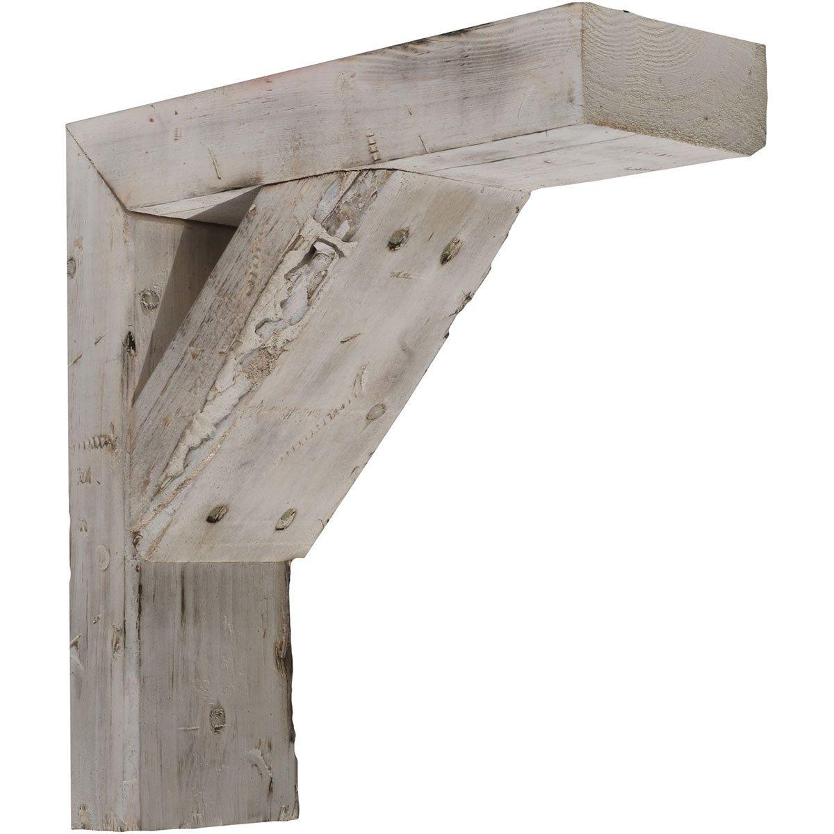 Ekena Millwork BKTB03X12X12TRWH Wood Bracket, 3 1/2'' W x 12'' D x 12'' H, Chalk Dust White