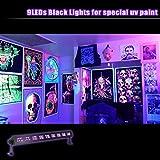OPPSK UV LED Bar with 9LEDx3W Black Light, Metallic Black