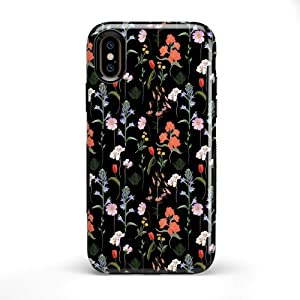 Casely iPhone X/XS Phone Case - Secret Garden | Mixed Floral Case - 360 Degree Coverage for Your Phone - Precise Cutouts, 1mm Raised Lip Camera Protection - Bold