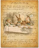 Mad Hatter - A Mad Tea-Party - 11x14 Unframed Alice in Wonderland Print