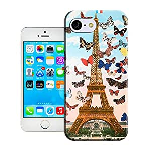colourful butterflies fly to Eiffle tower for iphone5c by longcase