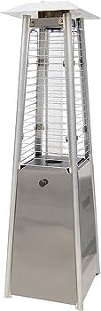Hanover HAN0201SS Mini Pyramid Tabletop Propane Patio Heater