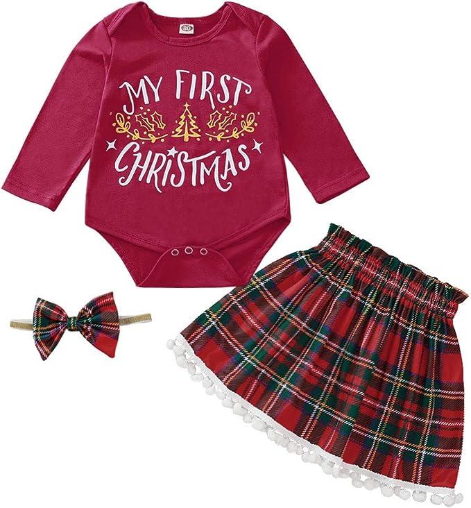 K-Youth Vestido Bebe Niña Fiesta Conjuntos Niña Navidad Bodys Bebe ...
