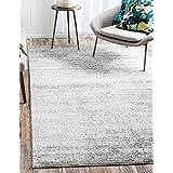 Unique Loom Del Mar Collection Gray 5 x 8 Area Rug (5' x 8')