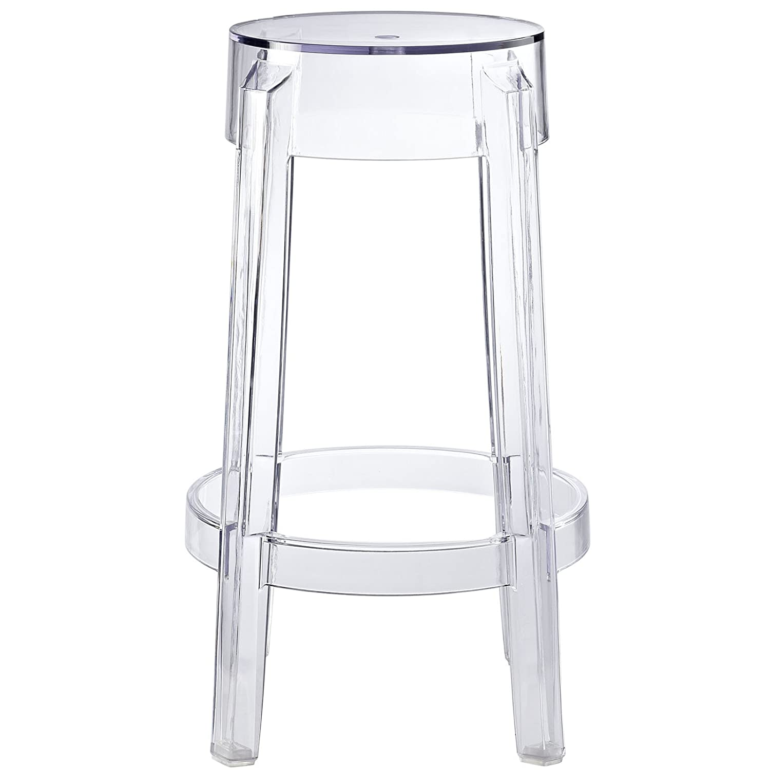 Amazon Modway Casper Counter Stool in Clear Kitchen & Dining