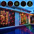 Laser Christmas Lights with RF Wireless Remote,Zerhunt Rotating Star Shower Laser Lights Projector For Garden,Hoilday,Landscape Decorations,Smart IC Protection (2017 New)
