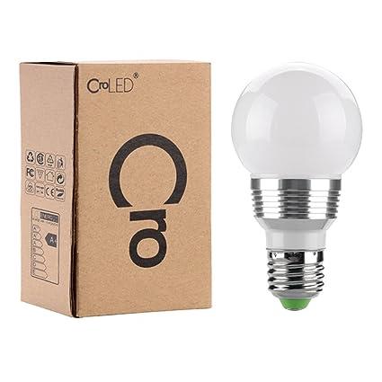CroLED - Bombilla LED por control remoto 3W 230V - E27 RGB 11.2*6*