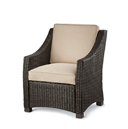 Amazon Com Threshold Belvedere Wicker Patio Club Chair Garden