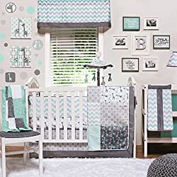 Uptown Giraffe 4 Piece Baby Bedding Set by The Peanut Shell