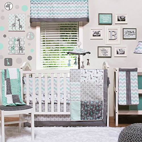 (Uptown Giraffe 4 Piece Baby Bedding Set by The Peanut Shell)