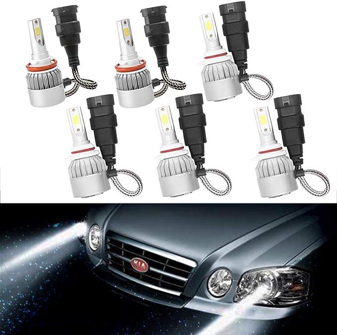 Protekz LED Fog Light Kit 2 Bulbs CREE H8 6000K for 2012-2019 BMW X1