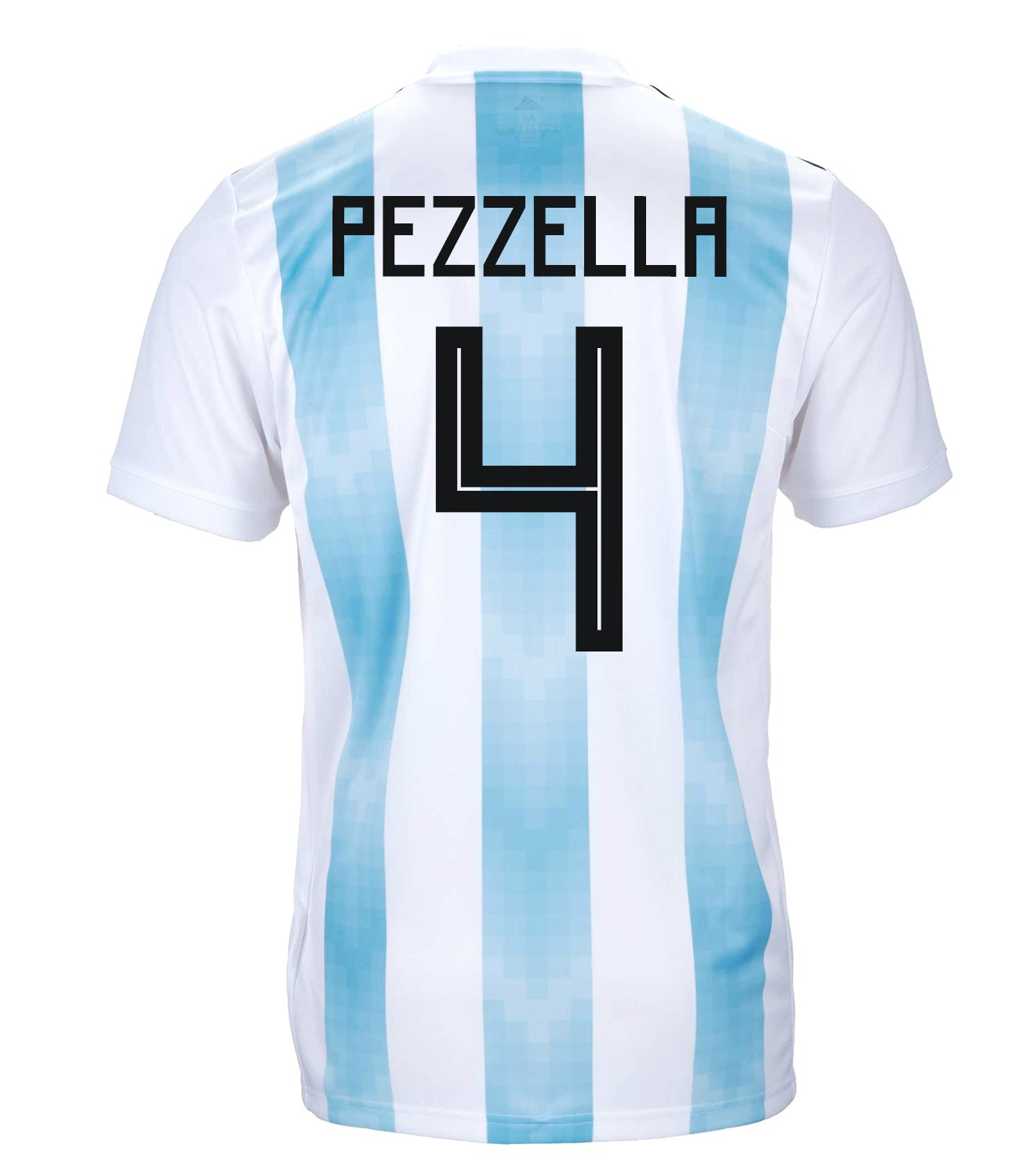 Adidas Pezzella #4 Argentina Official Youth Home Soccer Jersey World Cup Russia 2018 (S)