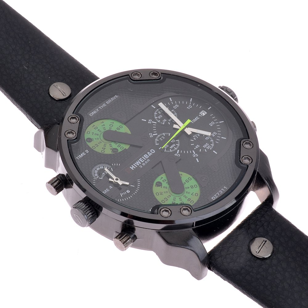 Amazon.com: SHIWEIBAO mens watches sports watch quartz-watch leather dress reloj militar wrist watches: Watches