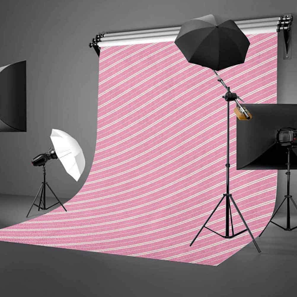 7x10 FT Vinyl Photography Background Backdrops,Cute Feminine Design Diagonal Lines in Romantic Valentines Day Themed Image Background for Graduation Prom Dance Decor Photo Booth Studio Prop Banner