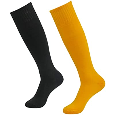 Time and River Unisex Football Sock Team Sports Tube Sock Knee High 2/4/10 Pairs