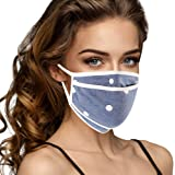 Cloth Face Mask Washable with Filter Pocket - For Women - Soft & Cute USA Made