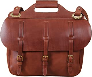 product image for Col. Littleton Full-Grain No.1 Saddlebag Briefcase | Made in USA