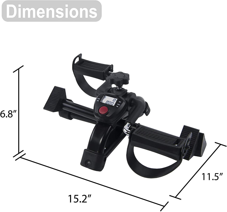 Vaunn Medical Folding Mini Pedal Exerciser size