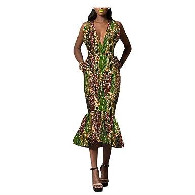 Private Customized Vestido Africano para Mujer Ankara Dashiki Ropa ...