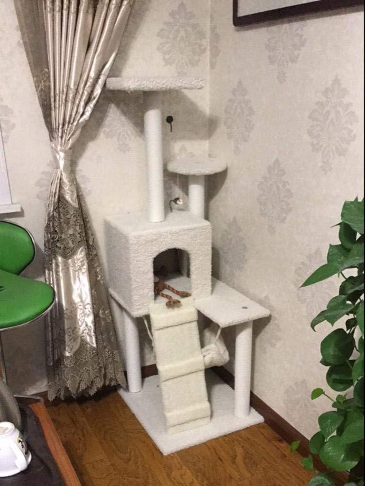 Fushenr - Tabla de Juegos para Gatos, Escalada, arenero para Gatos, árbol, Gato, Columna, para Dormir, 60 x 50 x 160 cm: Amazon.es: Productos para mascotas
