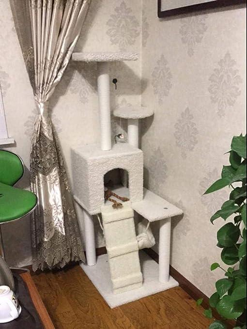 Fushenr - Tabla de Juegos para Gatos, Escalada, arenero para Gatos, árbol,