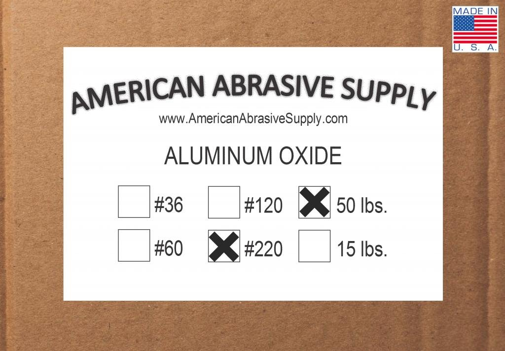 Aluminum Oxide #220 Grit Blasting Abrasive (50 micron) (50 lbs.)