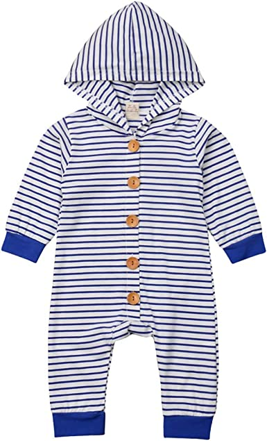 naughty kiss Cute Unisex Newborn Baby Stripe Hoodie/&Short Sleeve Romper Sleeveless Jumpsuit Pajamas Sleepwear Outfits Clothes