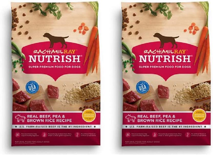 Rachael Ray Nutrish Natural Dry Dog Food (2 Pack, Real Beef, Pea & Brown Rice)