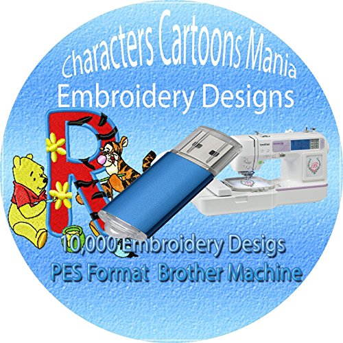 (11,000+ Children Characters Famous Cartoon Embroidery Designs Machine Pattern Designs Brother PES File 1GB USB Memory New)