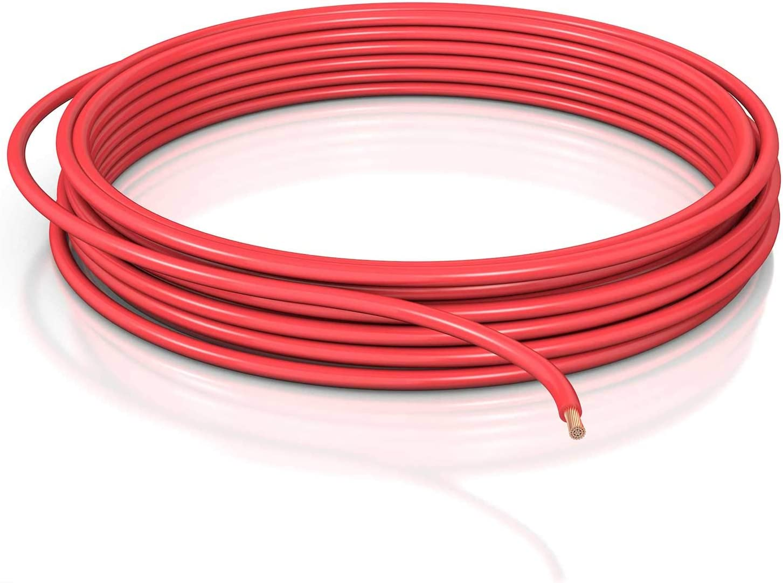 Dcsk 16mm 5m Fahrzeugleitung Flry B Asymmetrisch Kfz Kabel Litze Rot 5 M Ring Baumarkt