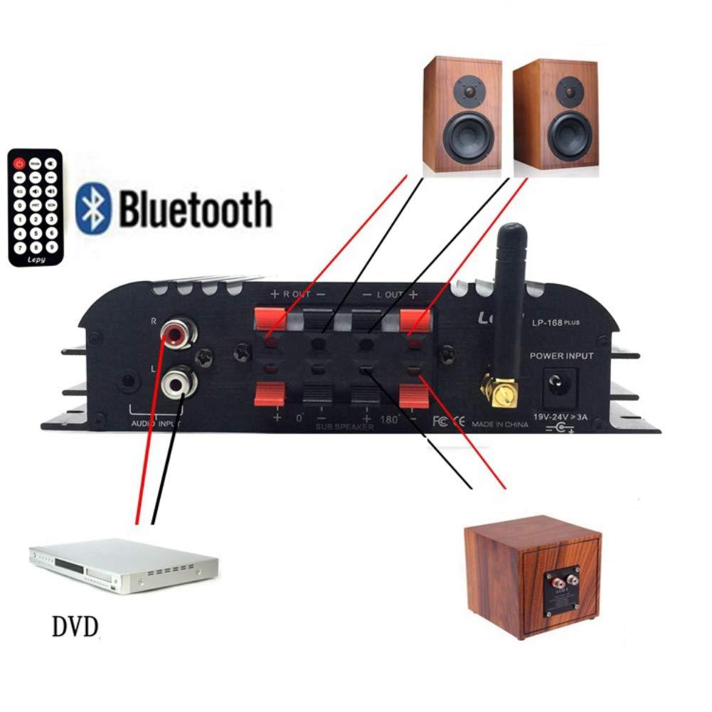 0.91KG American Standard XuBa Lepy LP-168 Plus IR//2.1CH 45W-2 68W Bass HiFi Digital Stereo Amplifier Black 17.6X15.5x4.3