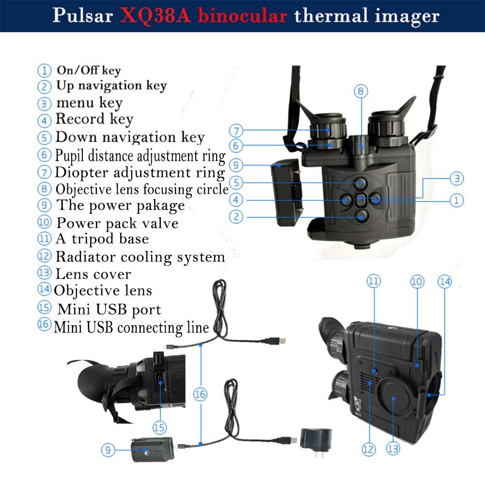 ZIYOUHU Pulsar XQ38A Binocular Thermal Imager Comfortable Long time observasion Multifunction for Hunting Binocular Search Apparatus (680480 77414) by ZIYOUHU