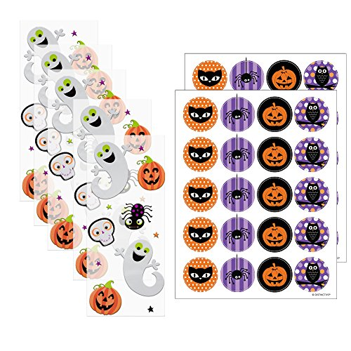 Cute Halloween Treats For School (Halloween Trick or Treat Goodie Bag Kits (Set of 40))