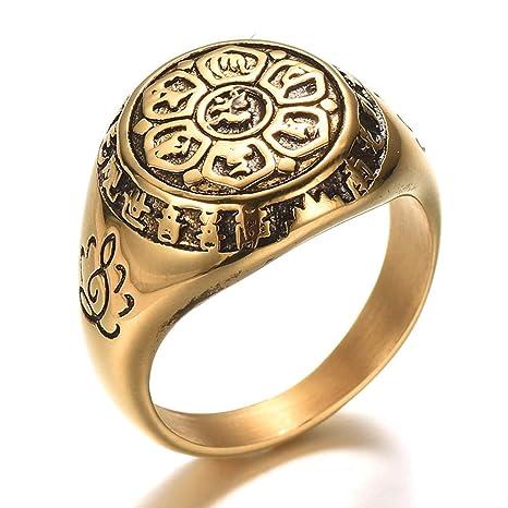 Amazon.com: Culturemart - Anillo de loto de Buda grande de ...