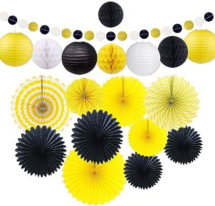 7//set Colorful Paper Honeycomb Fan Lantern Garland Hanging Wedding Decor