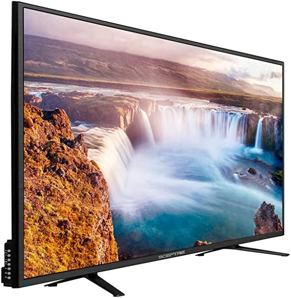 "Sceptre 65"" 4K Ultra HD 2160p LED 4X HDMI 2.0 HDTV 3840x2160, Metal Black 2018"