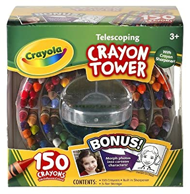 Crayola 52-0029 Crayola 150-count Telescoping Crayon Tower Storage Case Sharpener from Crayola