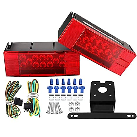 Excellent Amazon Com Lclhome Led Trailer Light Kit 12V Led Low Profile Wiring Digital Resources Indicompassionincorg