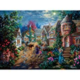Bits and Pieces - 500 Piece Jigsaw Puzzle for Adults - Moonlight Splendor - 500 pc Beautiful Night Scene Jigsaw by Artist Nicky Boehme