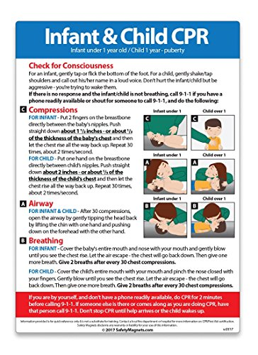 "Infant and Child CPR Magnet - 5""x7"""