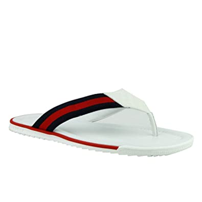 9d66be3fc Gucci Flip-Flop White Guccissima Leather Sandals with BRB Web 268670 9051  (14.5 G